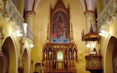 Obraz św. Józefa w kaplicy sióstr elżbietanek