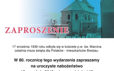 80. rocznica ostatniej mszy św. dla Polaków w Breslau
