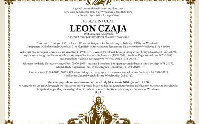 Pogrzeb Ks. Infułata Leona Czai