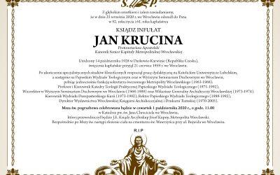 Pogrzeb Ks. Infułata Jana Kruciny