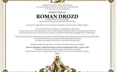 Pogrzeb Ks. Prałata Romana Drozda