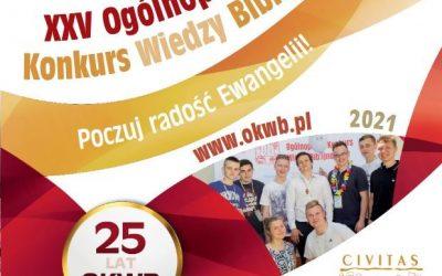 25. Ogólnopolski Konkurs Wiedzy Biblijnej